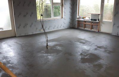 Cementdekvloer met vezel versterkt in Leende